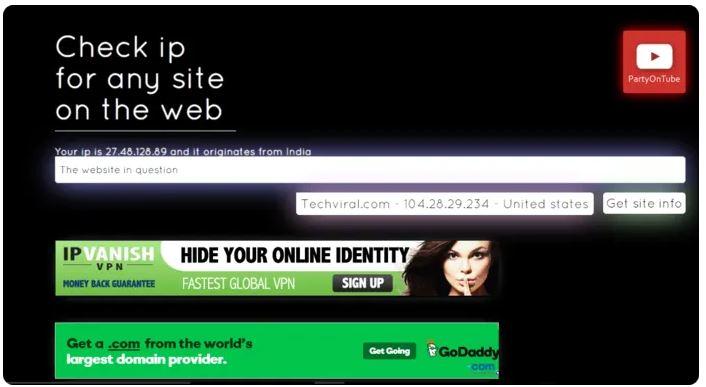 Get Site iP
