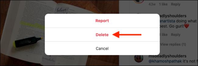 بر روی دکمه Delete کلیک کنید