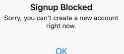 نحوه حل مشکل خطای ثبت نام  signup blocked در اینستاگرام