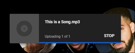 یوتیوب در حال بارگذاری موسیقی