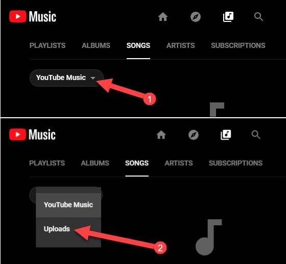 آموزش آپلود موسیقی در YouTube Music