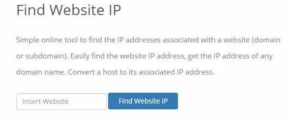 پیدا کردن IP سرور وب سایت