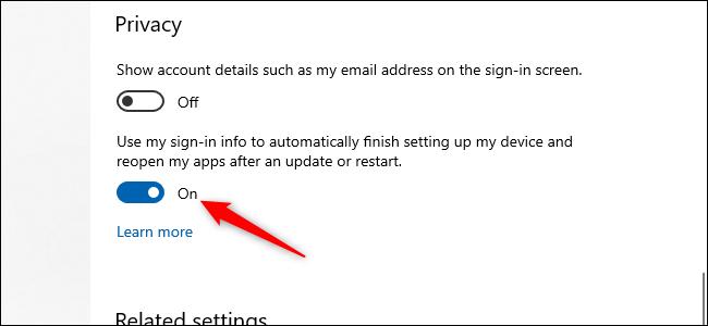 تنظیمات راه اندازی مجدد خود را تنظیم کنید