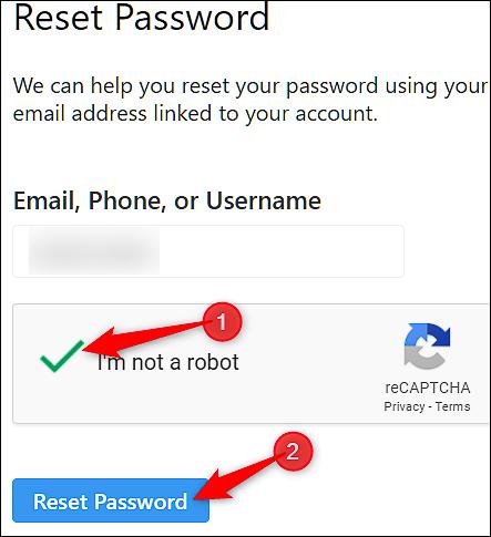 """روی دکمه """"Reset Password"""" کلیک کنید"""