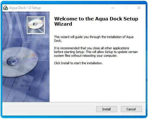 Aqua dock را دانلود و نصب کنید