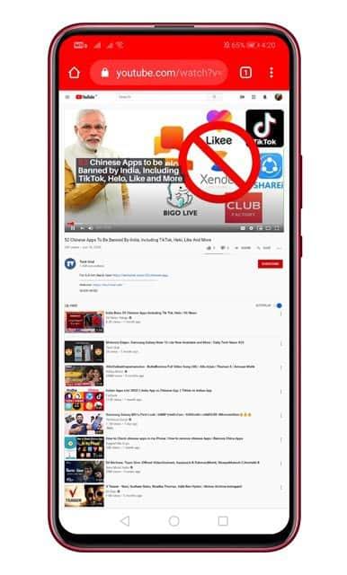 نمای دسک تاپ YouTube