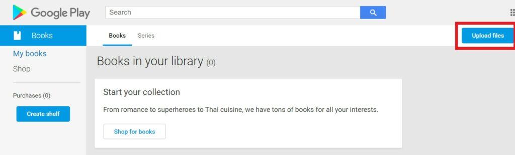 ارسال کتاب در Google Play Books
