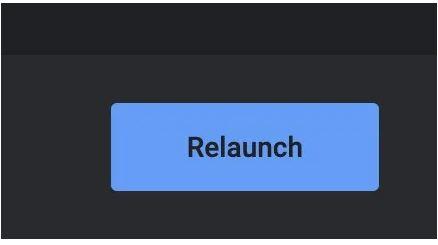 """بر روی دکمه """"Relaunch"""" کلیک کنید"""