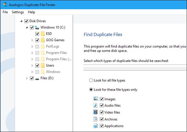 برنامه Auslogics Duplicate File Finder