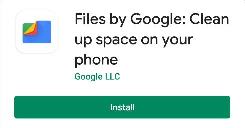 نصب برنامه Files Google