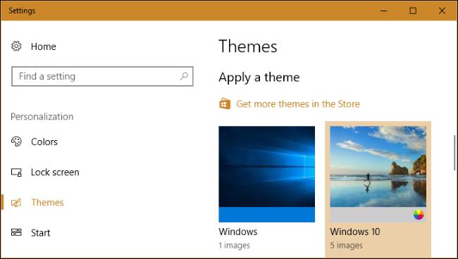 نحوه انتخاب و نصب تم در دسک تاپ ویندوز 10