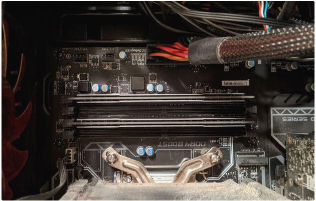 جای قرار گرفتن RAM