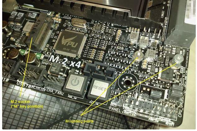 نصب هارد SSD M.2 در کامپیوتر
