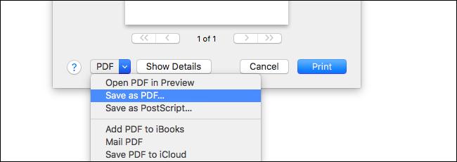 پرینت به  PDF در مک