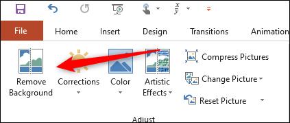 گزینه Background را در گروه تنظیم حذف کنید