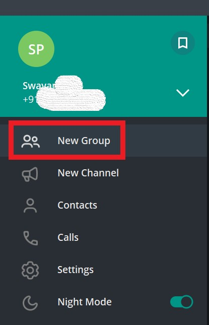 یک گروه جدید تلگرام ایجاد کنید