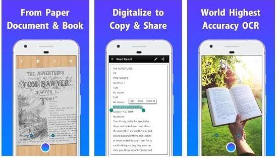 کپی متن از عکس در اندروید  با برنامه های OCR
