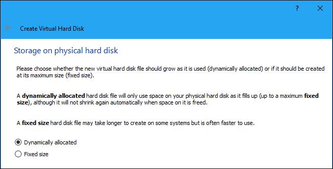 دیسک هایی با اندازه ثابت به جای تخصیص پویا ایجاد کنید
