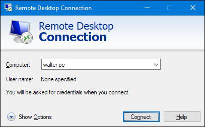 نام یا آدرس IP را برای رایانه شخصی وارد کنید