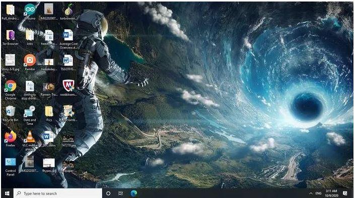 تصاویر پس زمینه دیجیتال فضانورد