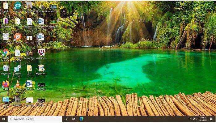 تصویر زمینه آبشارهای دریاچه
