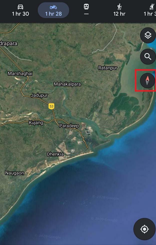 پیدا کردن جهت سفر در Google Maps