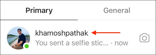مکالمه را از طریق Instagram DM انتخاب کنید