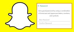 نحوه تغییر رمز عبور Snapchat