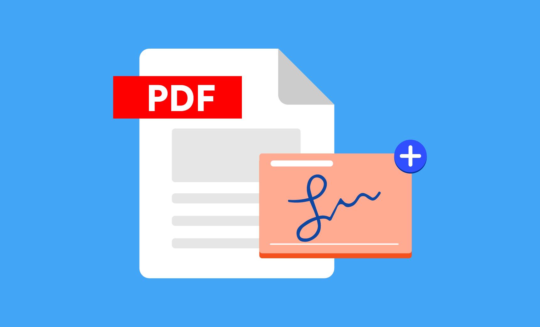 امضا PDF