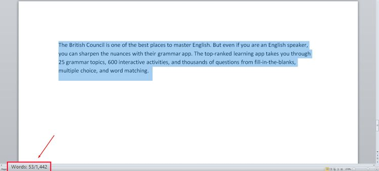 شمارنده کلمات در Microsoft Word