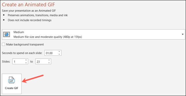 ساخت  GIF از پاورپوینت