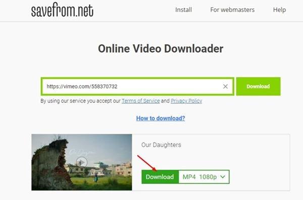 دانلود فیلم های Vimeo