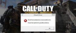 ارور DirectX Encountered an Unrecoverable Error