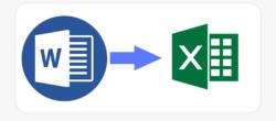 تبدیل سند Word به Excel در قالب جدول