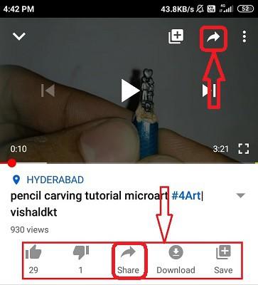اشتراک گذاری YouTube