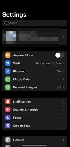 تنظیمات در iPhone