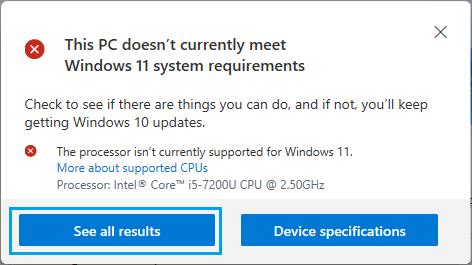 برنامه PC Health Check
